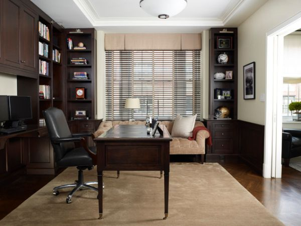 10 luxury office design ideas for a remarkable interior traditional office office designs and - Traditional home office design ...