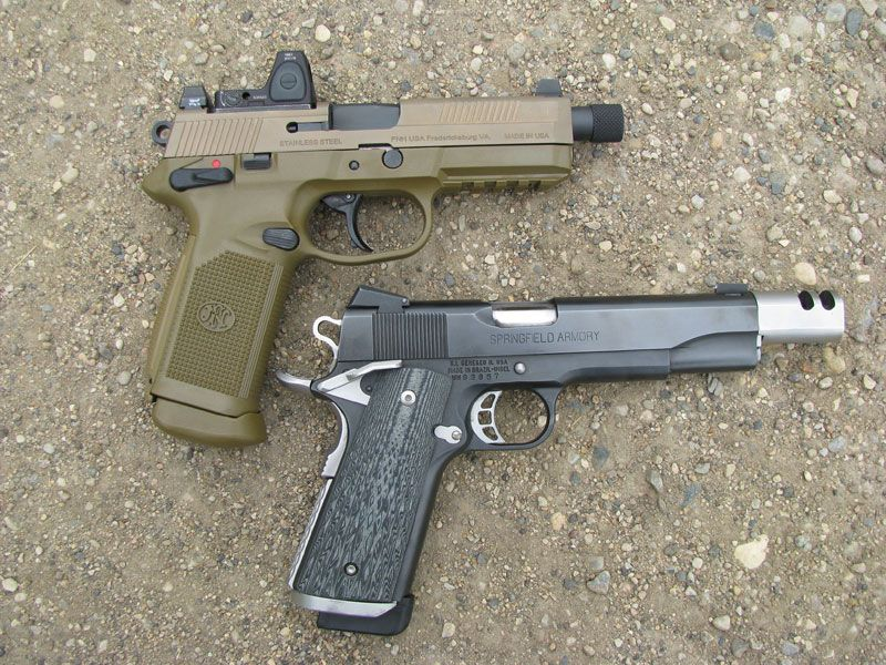 FN Herstal FNX .45 and Springfield Armory Custom 1911 speedloader ...