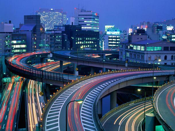Многоуровневое движение в Токио
