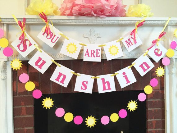 You Are My Sunshine Birthday Decorations childs room decor