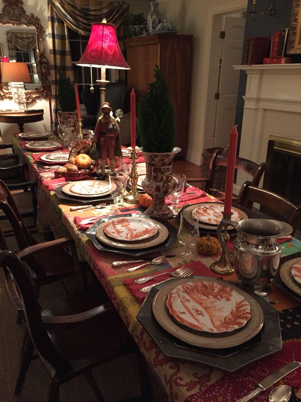thanksgiving table juliska pewter chargers bt plates pumpkin country estate salad plates - Thanksgiving Table Settings Pinterest