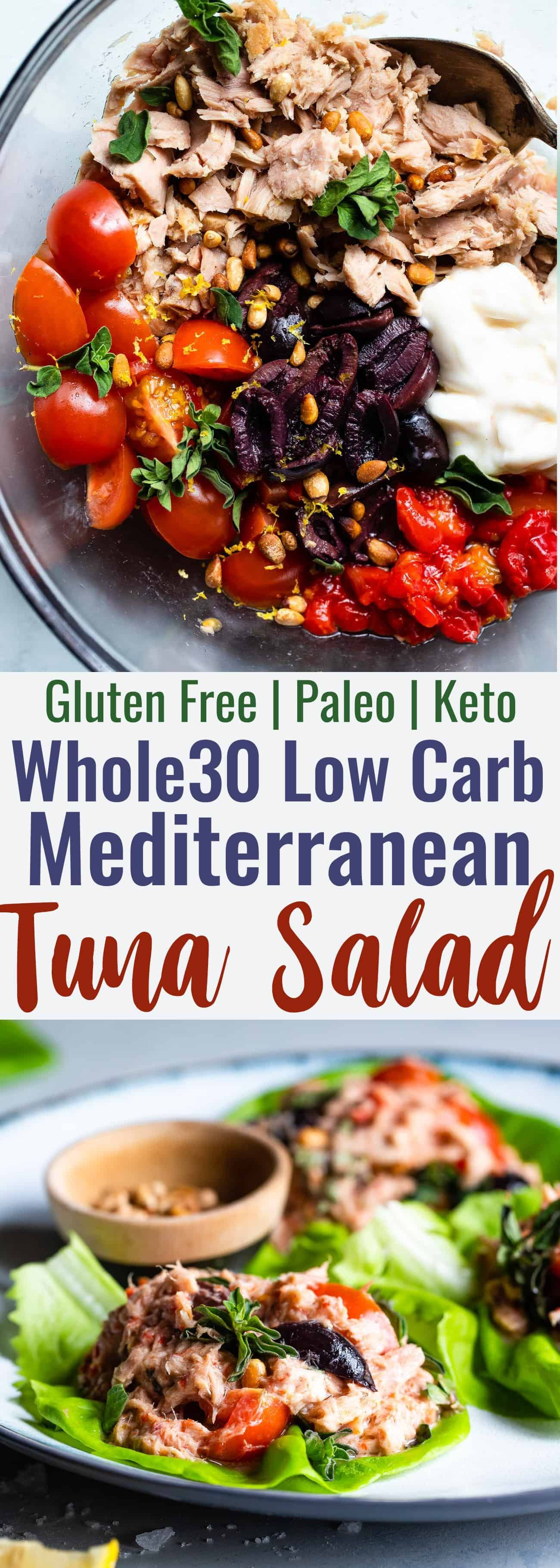 Paleo Mediterranean Tuna Salad with Olives -A quick and easy recipe that is great for meal prep an...
