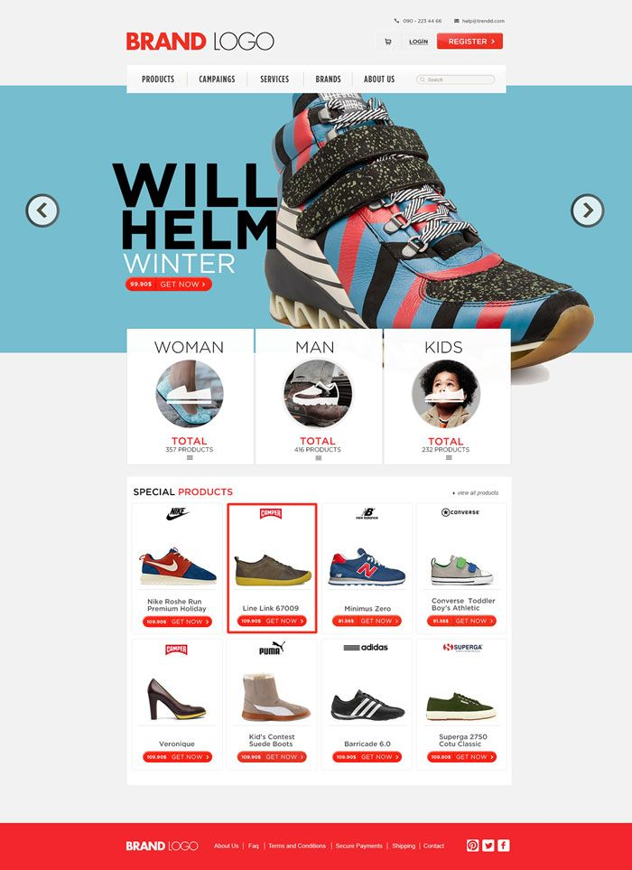 Shoes-Ecommerce-Website-PSD-Template