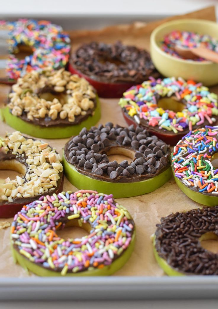 No Bake Apple Donuts - Fork and Beans