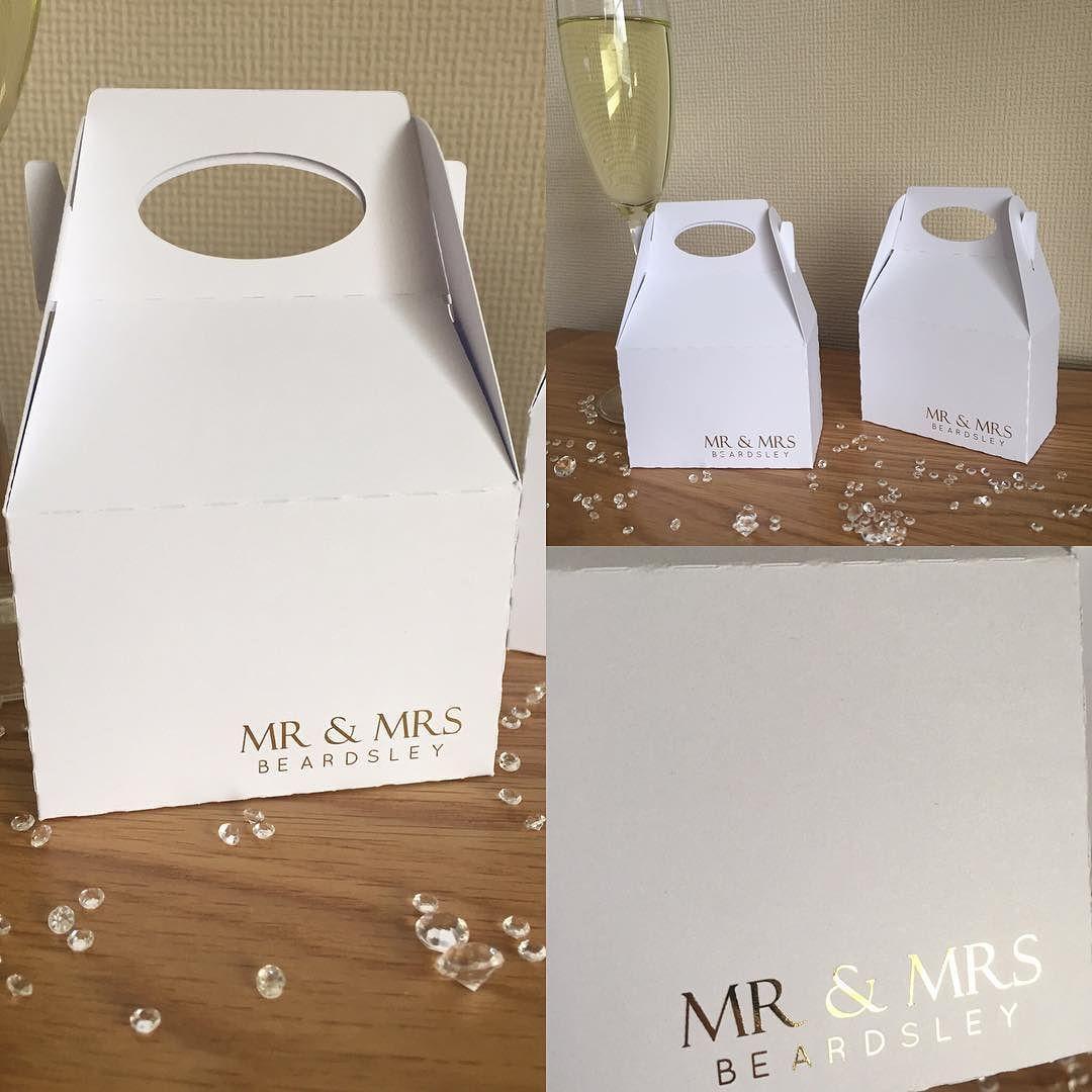 Wedding Favour Boxes #personalised #foiled #danishandmadewedding by ...