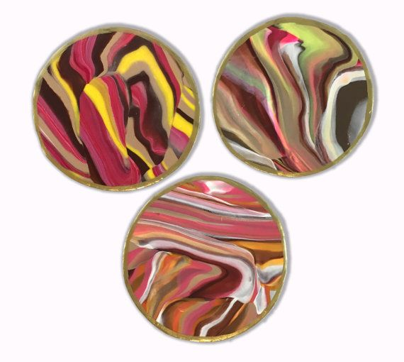 Earth Tone Coasters (3)