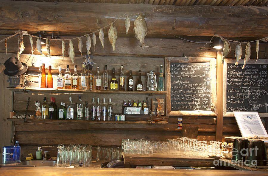 Bar With A Rustic Decor By Jaak Nilson Rustic Bar Bar Decor