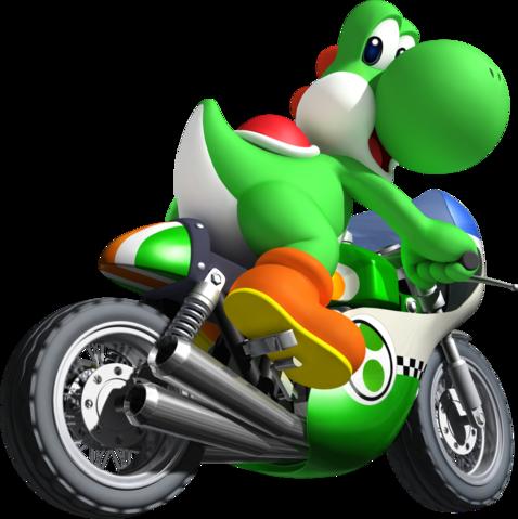 Mario Kart Wii Yoshi Mach Bike Mario Kart Wii Mario Kart Mario