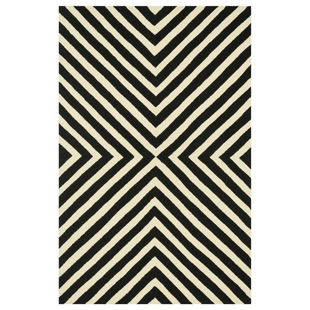 Loloi Palm Springs Black & Ivory Hand Hooked Indoor/Outdoor Rug LOLOIPM01BLIV
