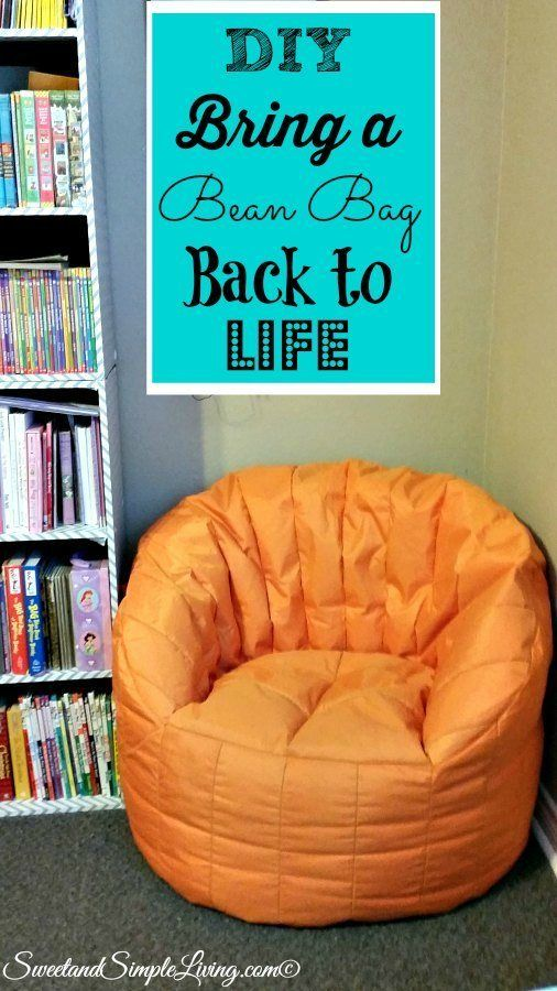 DIY Bring A Bean Bag Back To Life! Cheap And Easy!