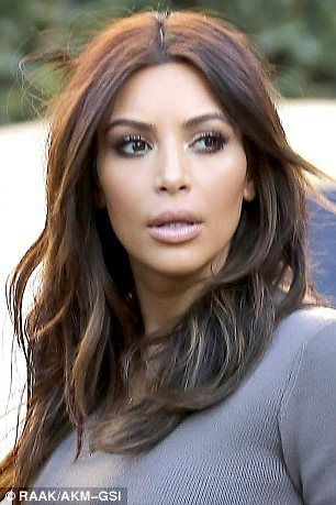 Kim kardashian blonde hair highlights