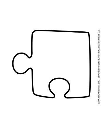 A Large Single Puzzle Piece Template For Decorating Classroom