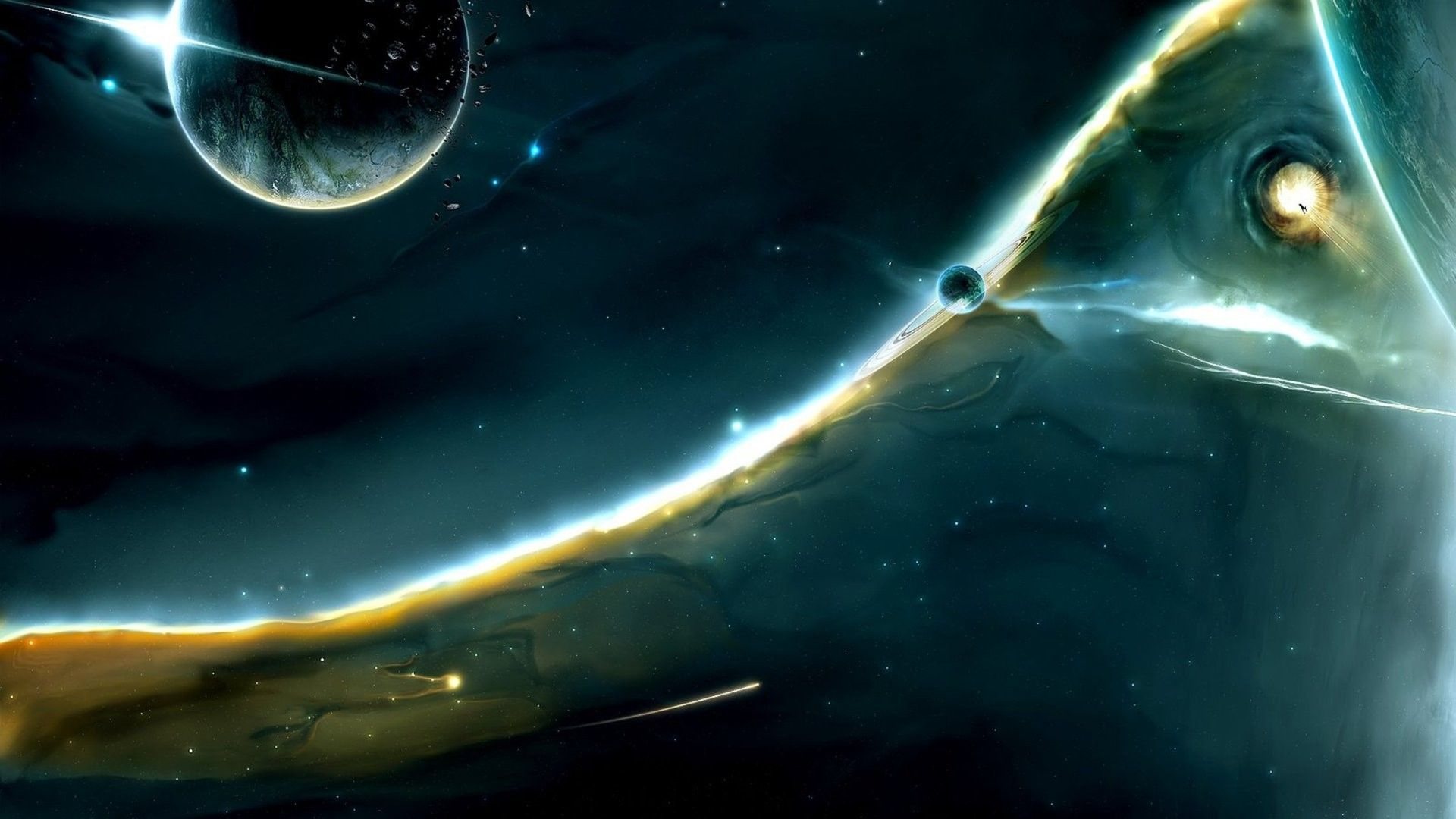 Outer Space Wallpaper 1920x1080 Outer Space Planets Fantasy Art
