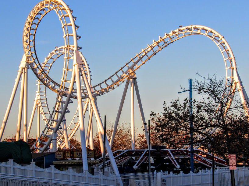The Tidal Wave Roller Coaster In Ocean City Md Taken On Nov 12