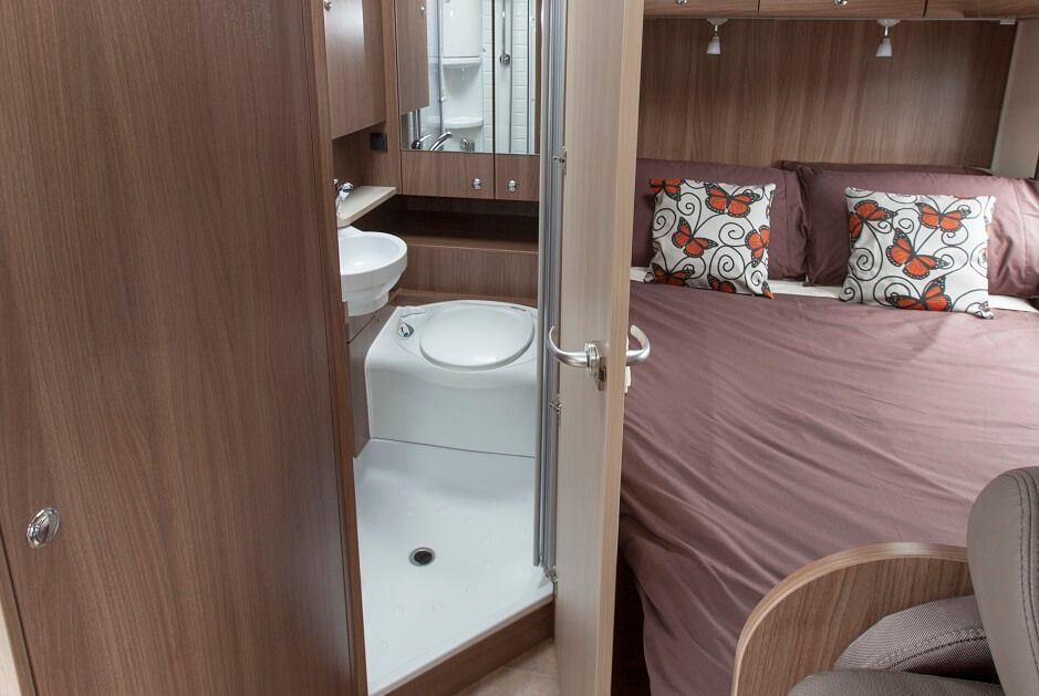 Inside The Burstner Argos Time A650 European Motorhome For Sale Combined Toilet And Shower Maximises