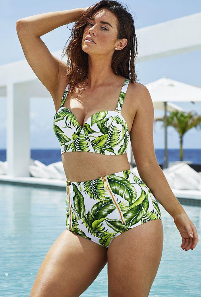 a9f6666c8f5ad bikini for curves | The Beach | Mid waist bikini, Plus size bikini ...