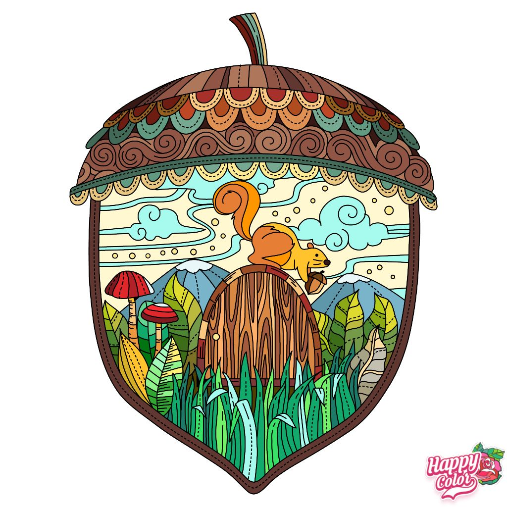 What A Nut Happy Colors Art Coloring Book App