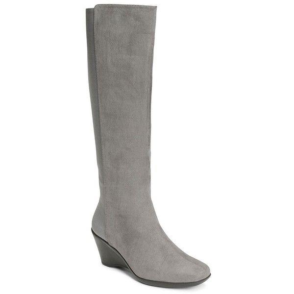 A2 by Aerosoles Taekwondo Women's Knee-High Wedge Boots ($60) ❤ liked on