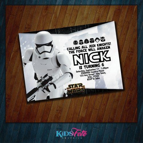 Star Wars Invitation - Kids party - Darth Vader - Dark forces - Stars | KidsFeteGraphics - on ArtFire