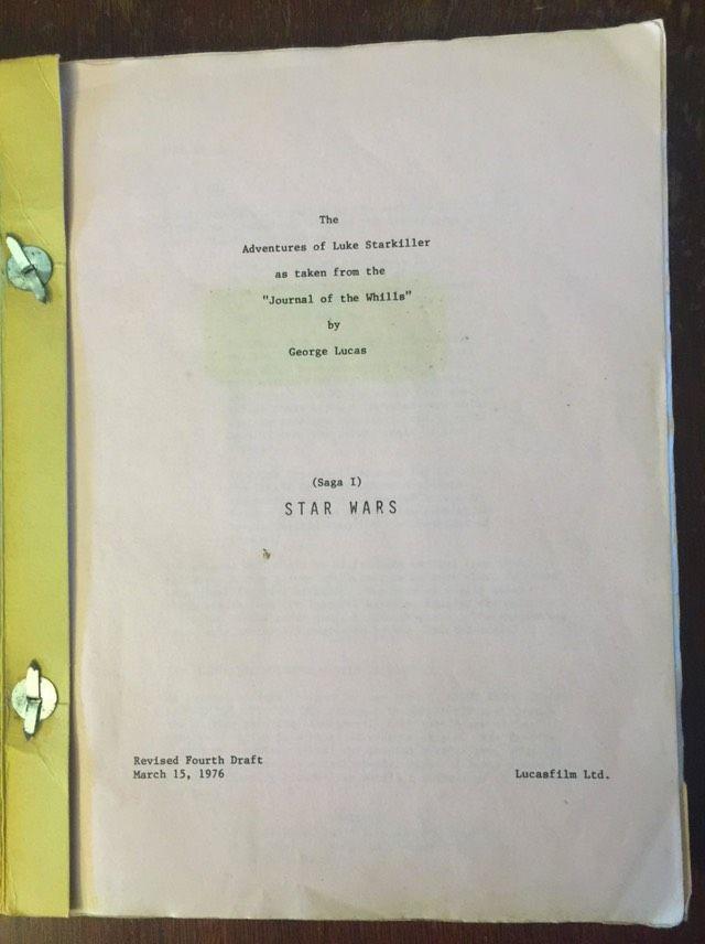 Chewy S Original Star Wars Script From 1976 Star Wars Episode Iv Star Wars Men Of Letters