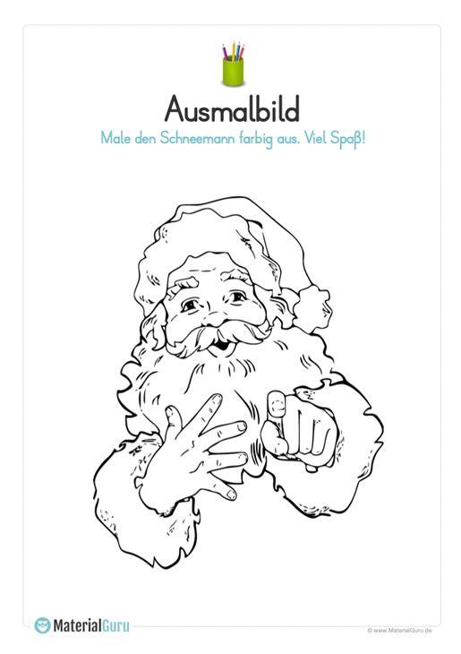 ausmalbild weihnachtsmann gesicht mit bildern
