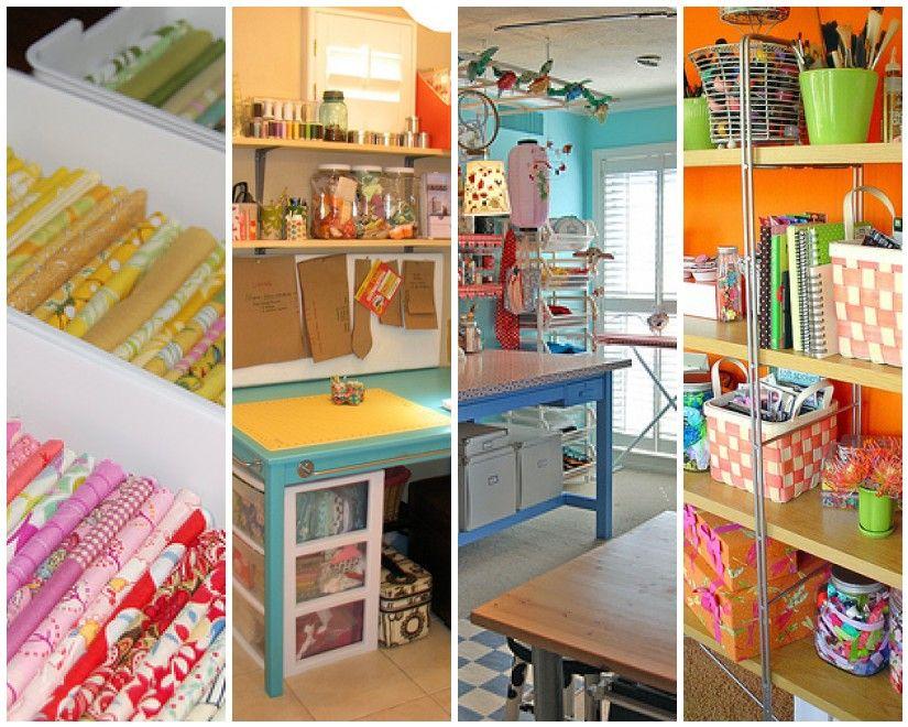 Craft Room Organizing Ideas | ... : Inspirational Wednesday (Small Craft  Room/