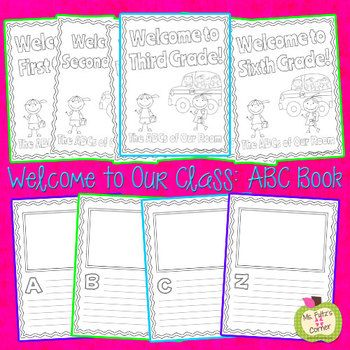 abc book template welcome to our class teaching social studies