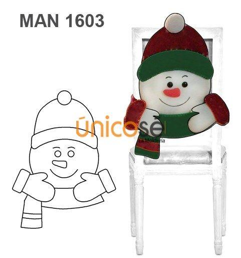 Funda respaldo silla navidad patrones varios moldes - Adornos navidenos para sillas ...