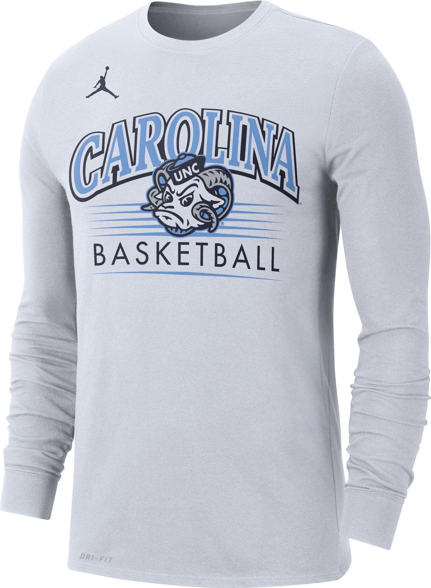 Jordan Men S North Carolina Tar Heels Dri Fit Retro Long Sleeve