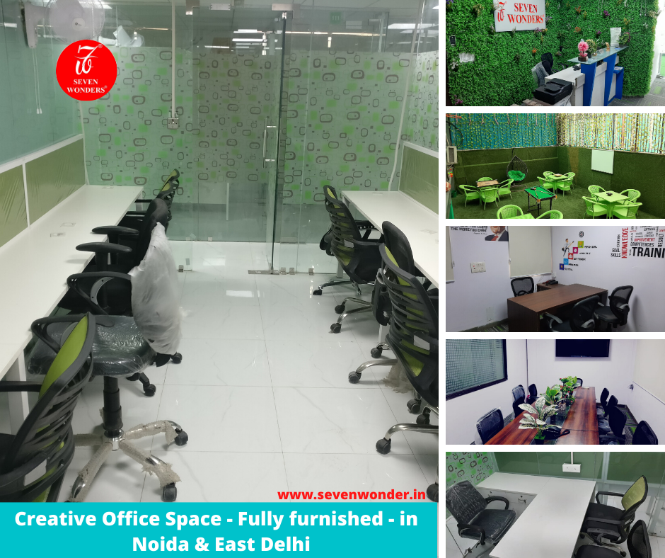 Creative Office Space Fully furnished in Noida & East