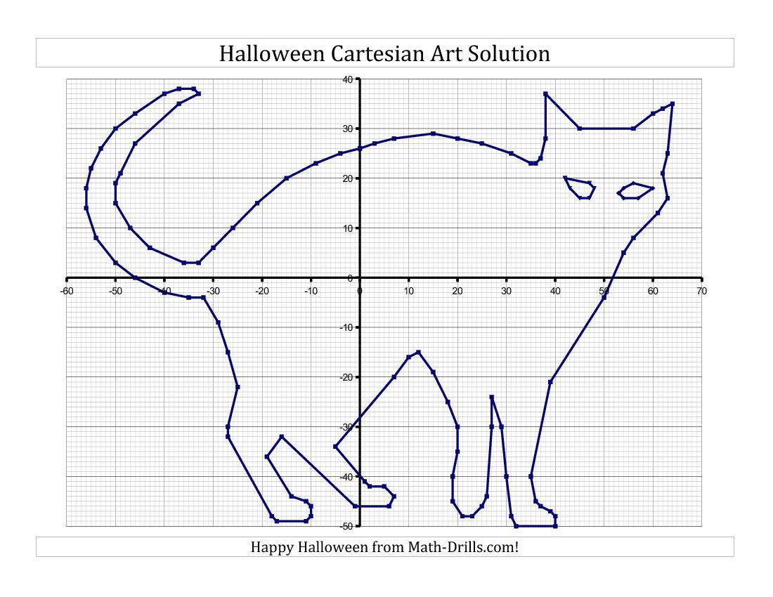New For Halloween 2013 Cartesian Art Halloween Cat Halloween Math Worksheets Halloween Math Coordinate Graphing Pictures [ 850 x 1100 Pixel ]