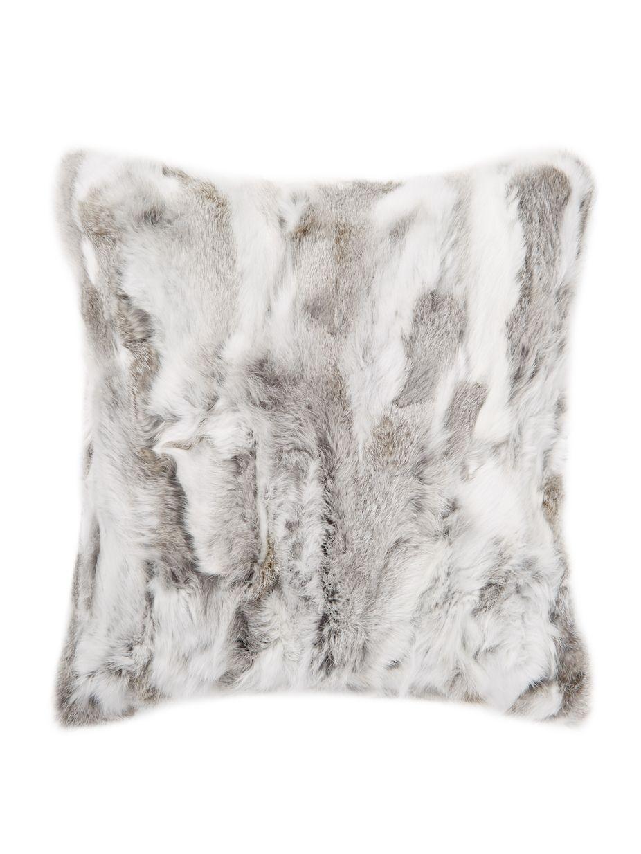 Adrienne Landau Rabbit Fur Pillow  739531908b