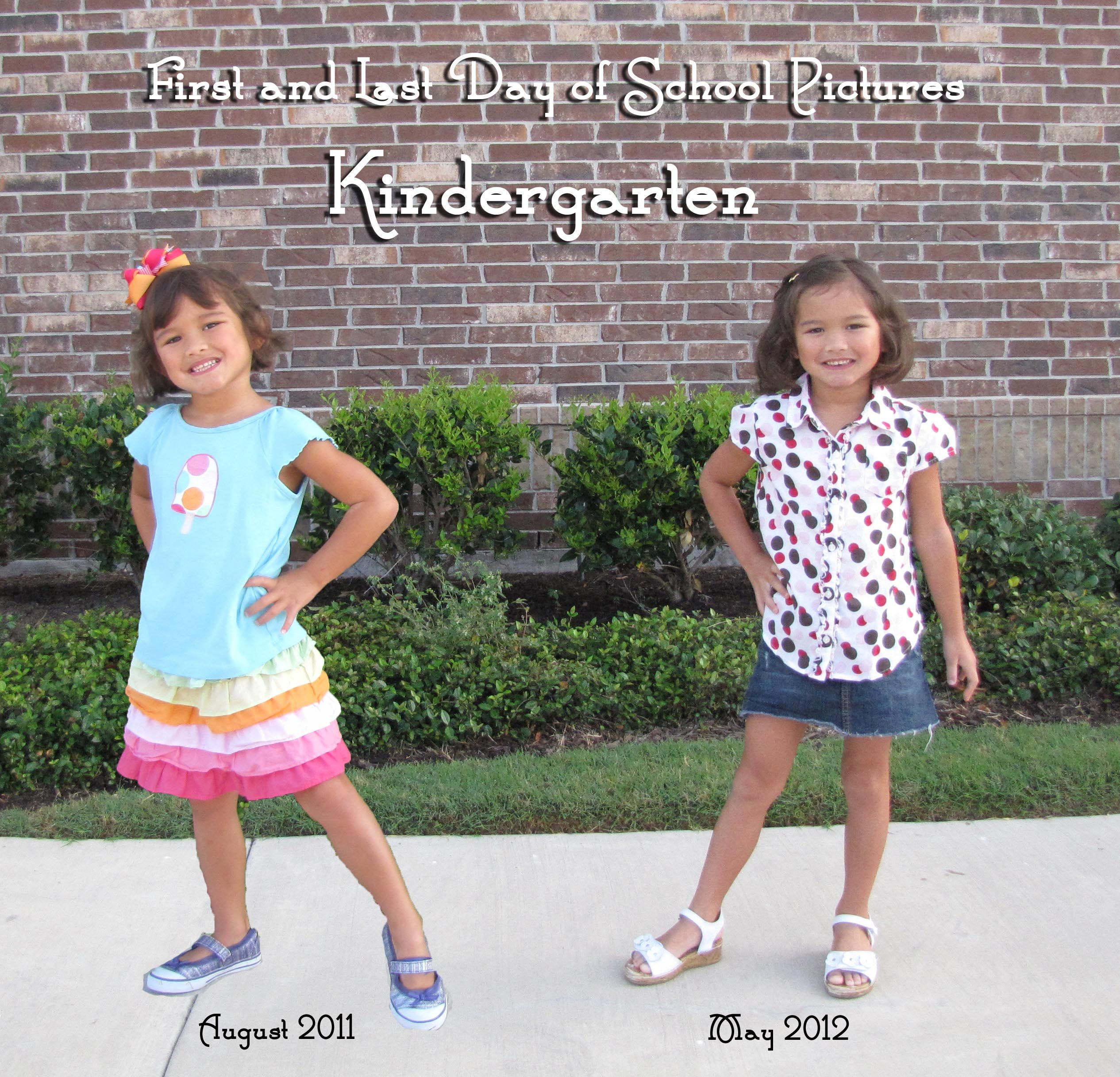 Photoshop First and Last Day of School Pictures