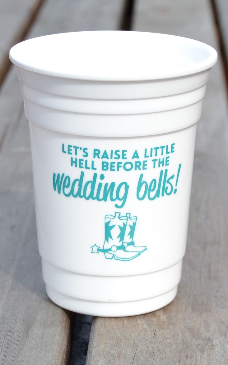 Rustic wedding favor idea for the bachelorette party or the entire ...