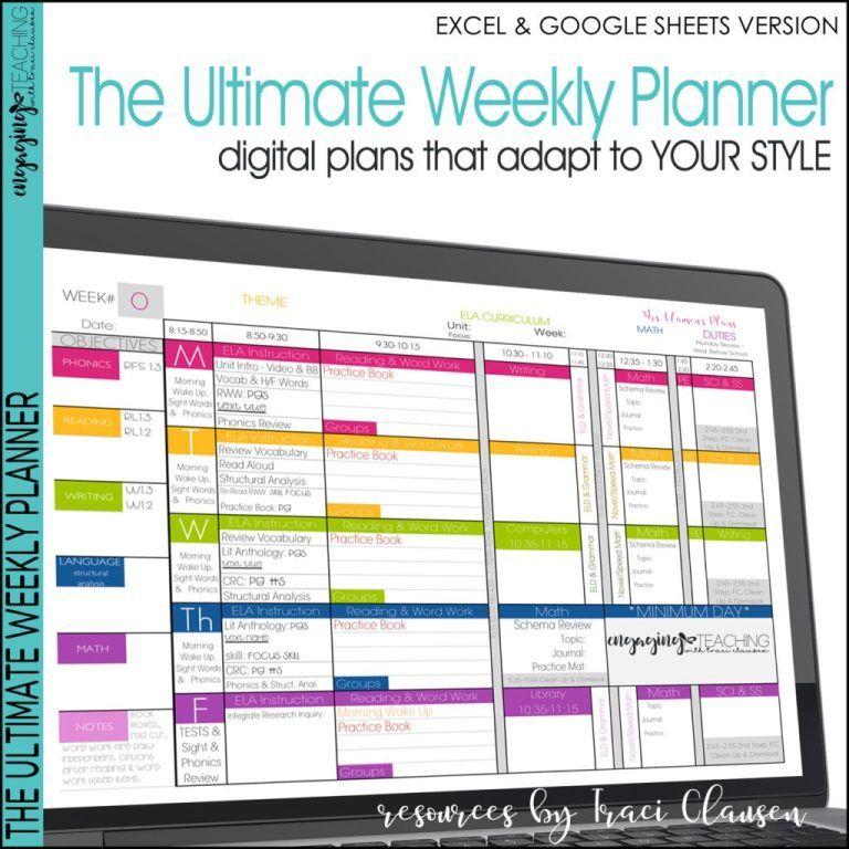 Teacher Planner Templates Editable Teacher Binder Excel