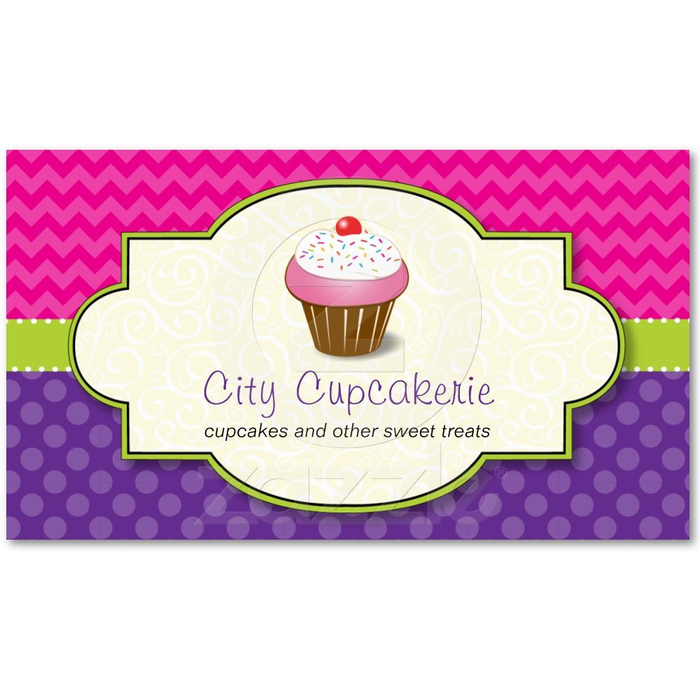 Cupcake Shop Business Card | Dark side, Business cards and Business
