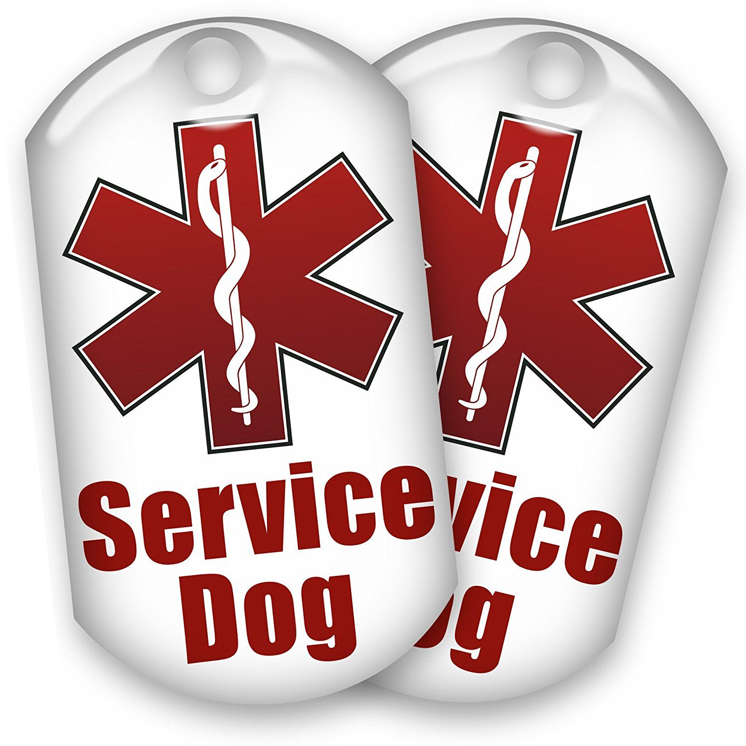 2 Service Dog Id Tags 1 Low Price See This Great Product This