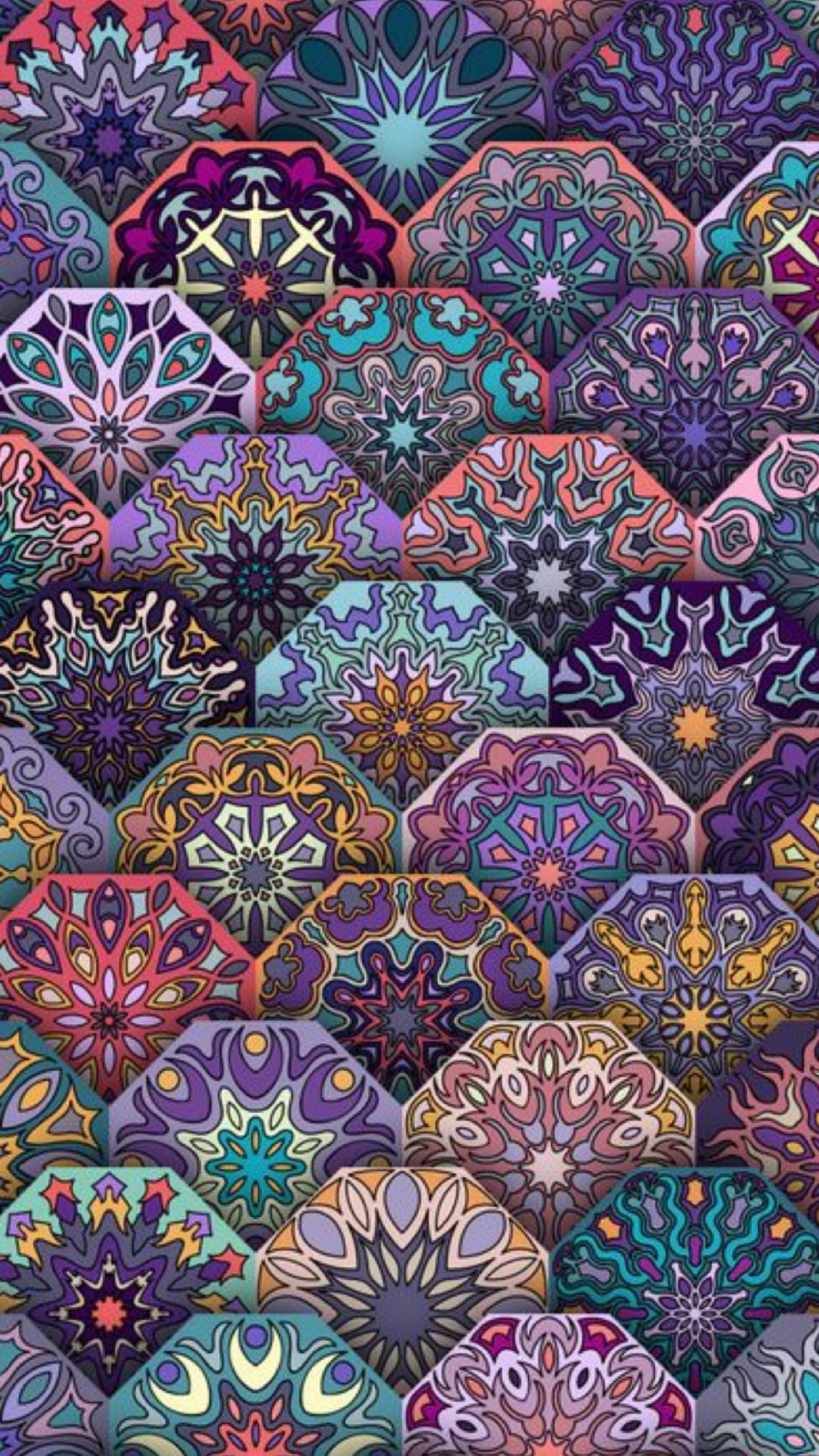 Kaleidoscope Canes Mandala Wallpaper Art Wallpaper Fractal Art