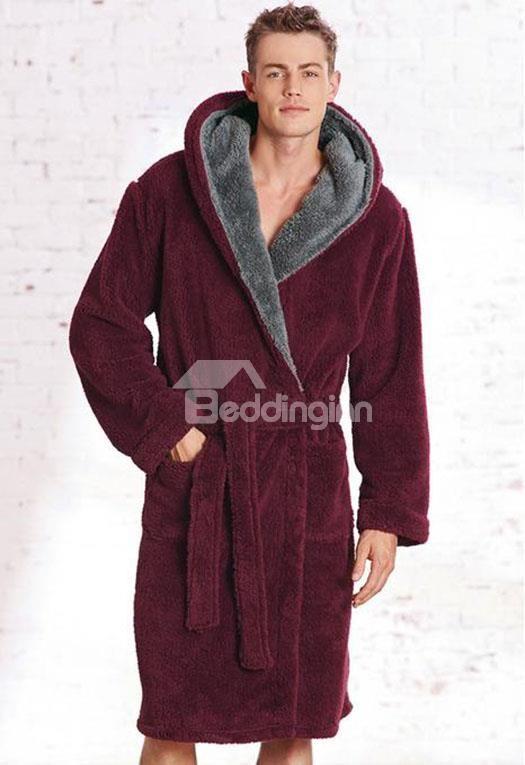 High Quality Super Soft Stylish Solid Color Bathrobe  soft  stylish  man   bathrobe bc8b922aa