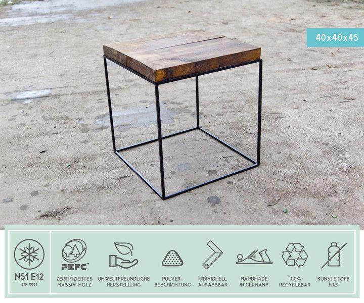 Industrial Tisch beistelltische loft vintage industrial tisch stahl ein