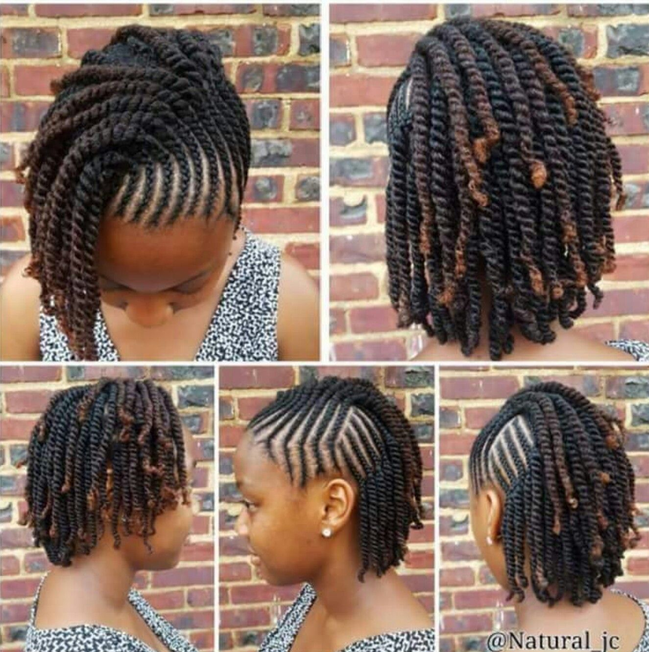 Pin By Amber Dukes On Hair With Images Braids For Short Hair