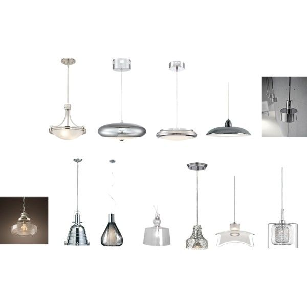 Deco Chrome Pendant Light Sets By Kahamon On Polyvore Featuring Interior Interiors