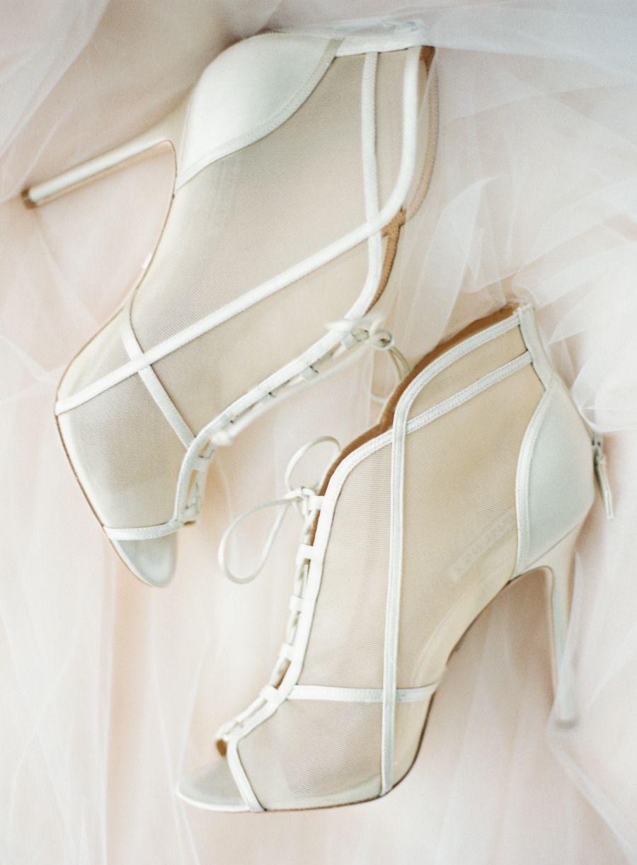 Mesh booties - #wedding shoes
