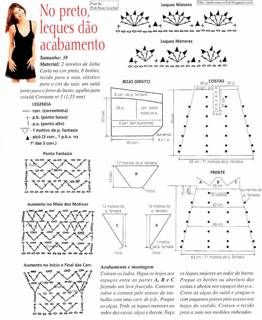 Patrones Vestidos Crochet | Patrones Crochet | vestidos chochet ...