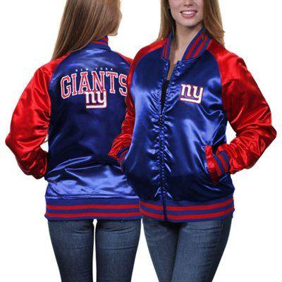 online store 48402 47125 New York Giants Ladies Team Spirit Satin Jacket - Royal Blue ...