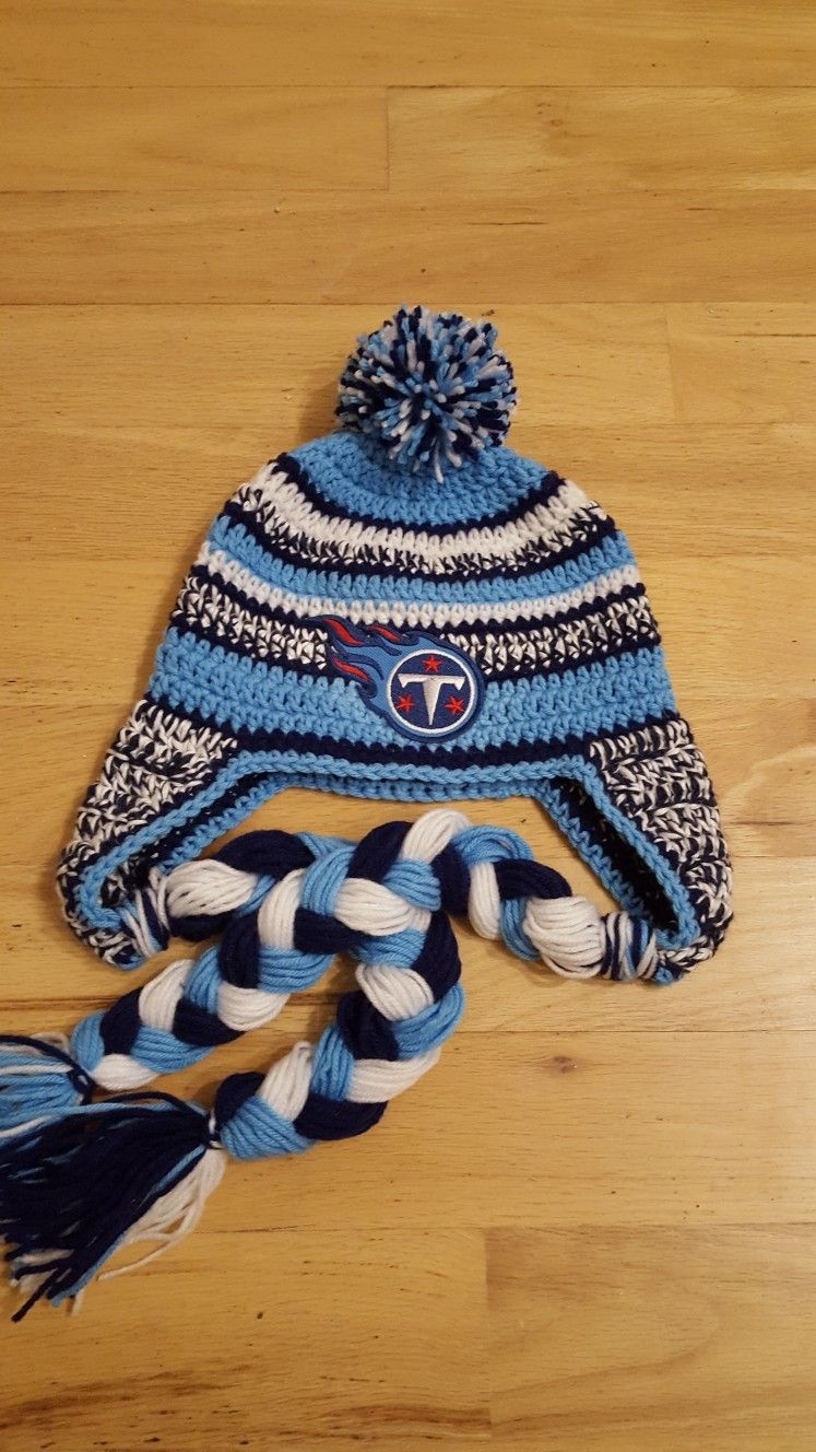 8062d1d96d83b Crochet Tennessee Titans hat. NFL beanie
