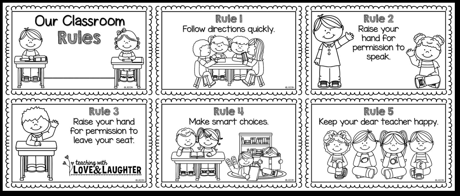 Image result for wbt 5 classroom rules kindergarten