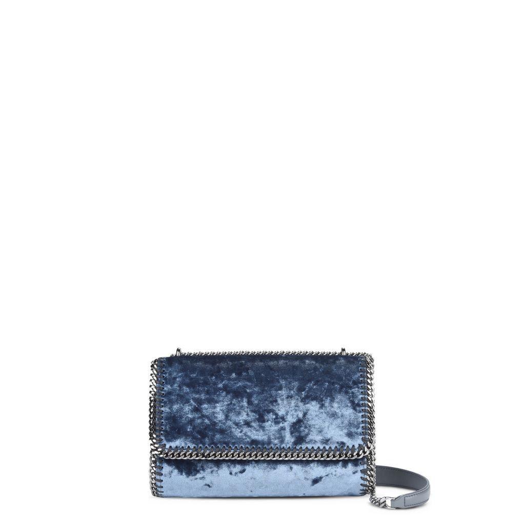 STELLA MCCARTNEY Blue Velvet Falabella Shoulder Bag.  stellamccartney  bags   shoulder bags   8ad695c53c