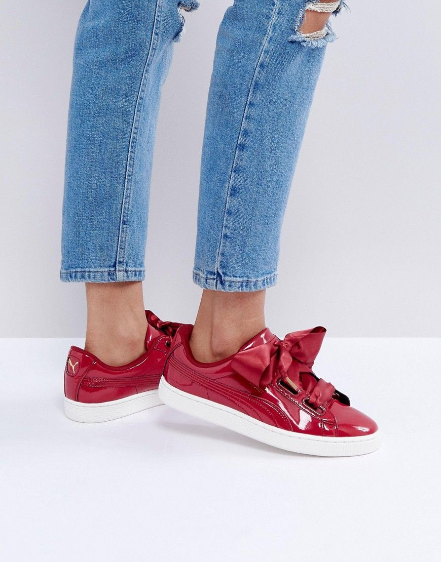 0353b0ba01b8 PUMA BASKET HEART SNEAKERS IN PATENT RED - RED.  puma  shoes ...