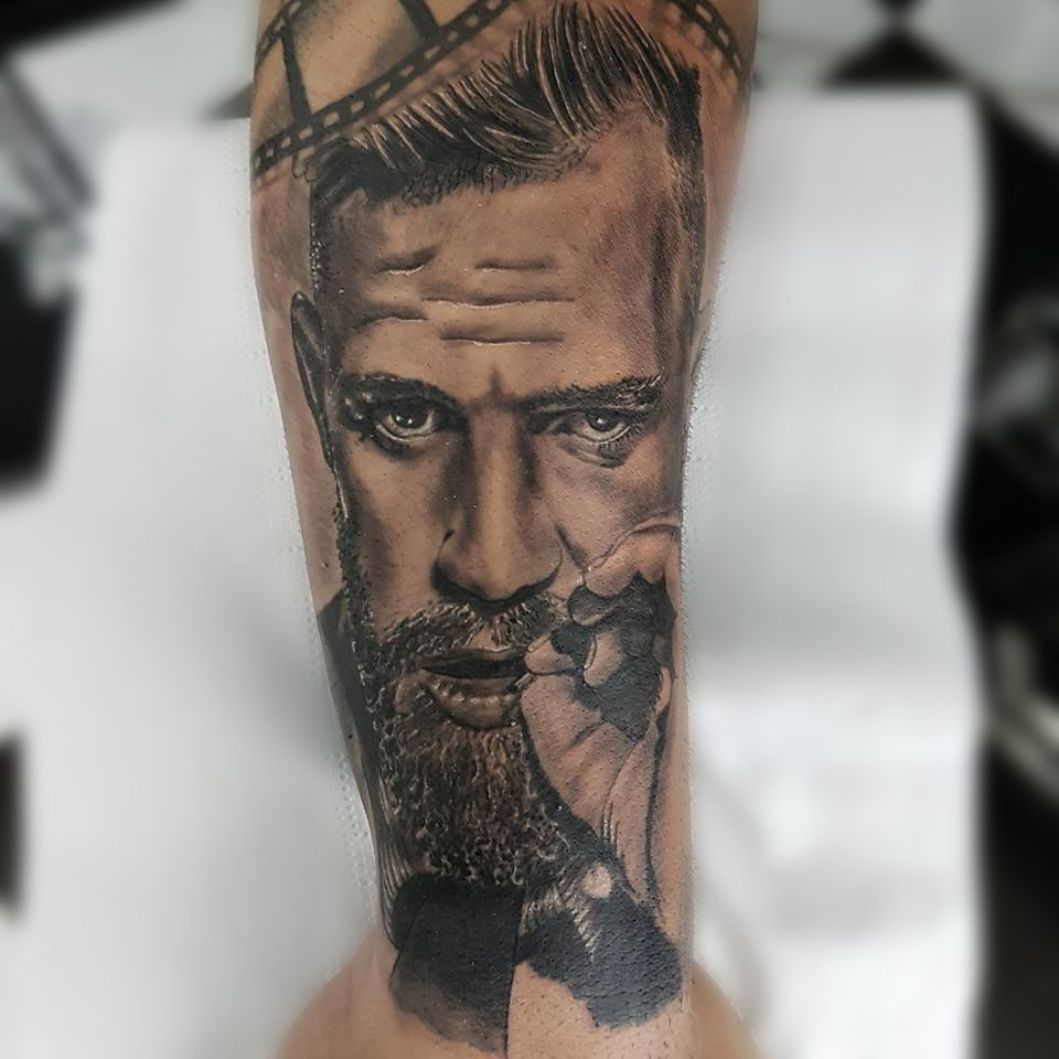 Connor mcgregor tattoo by amandio limited availability at new